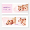 Introducing Your Baby Announcements - Purple