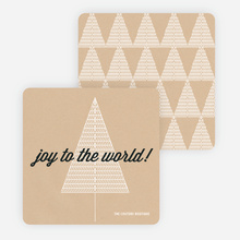 Joy to the World Christmas Cards - Black