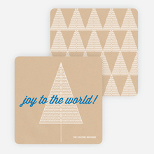 Joy to the World Christmas Cards - Blue