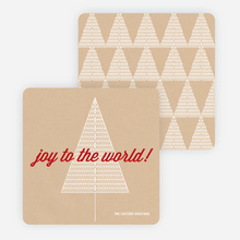 Joy to the World Christmas Cards - Red