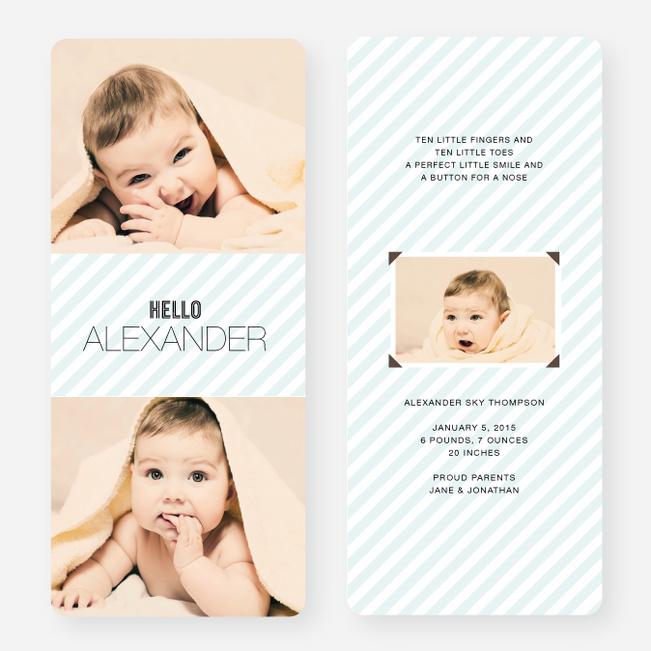 Soft Stripes Holiday Cards - Blue