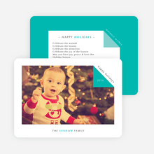 Folded Corner Photo Cards for the Holidays - Blue