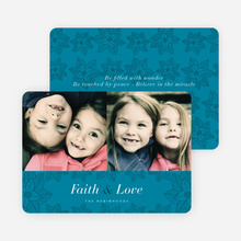 Poinsettia Holiday Cards - Blue