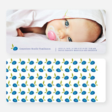 Strawberry Fields Forever Birth Announcements - Blue