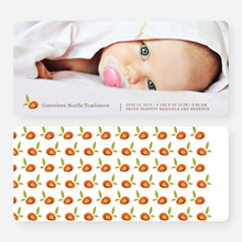 Strawberry Fields Forever Birth Announcements - Orange