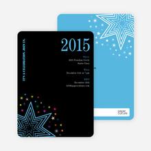 Starburst New Year's Invitations - Sky Blue