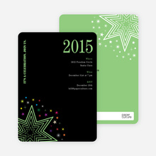 Starburst New Year's Invitations - Basil