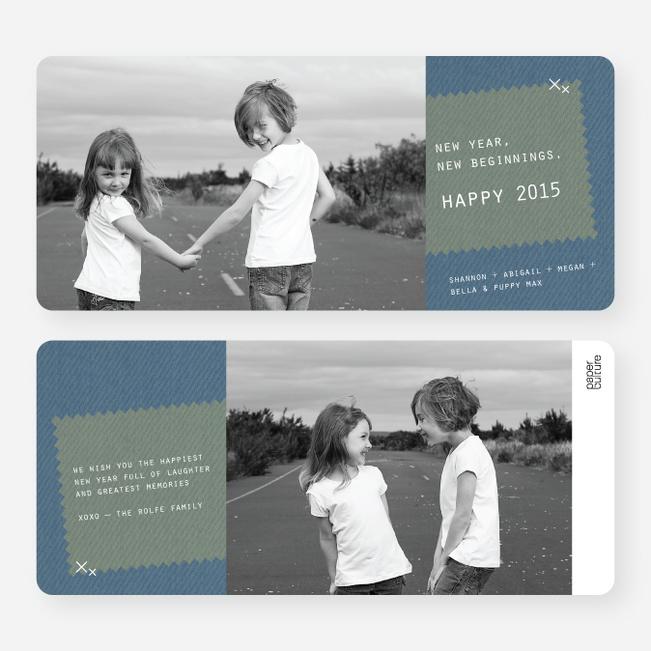 Denim Jeans Holiday Cards - Blue