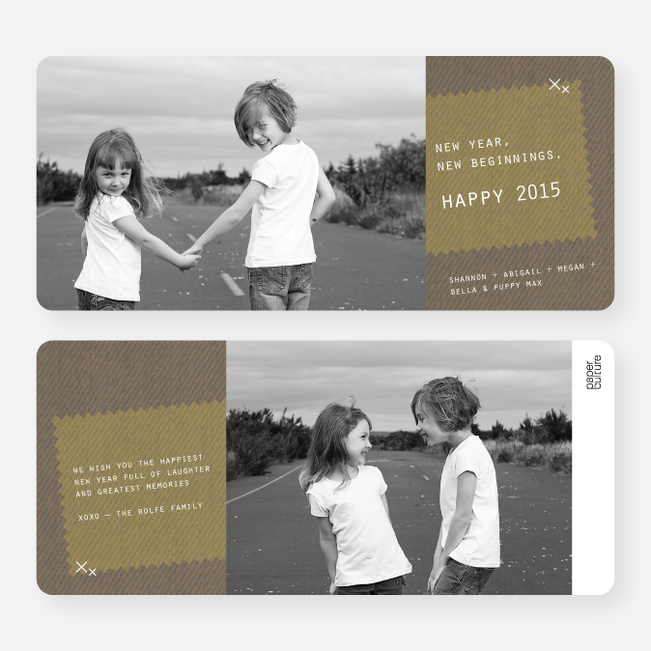 Denim Jeans Holiday Cards - Brown