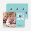 Holiday Ornament Holiday Photo Cards - Vista Blue