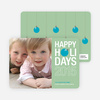 Holiday Ornament Holiday Photo Cards - Celadon