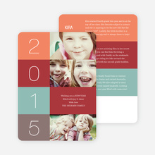 New Year's Blocks Photo Cards - Gray
