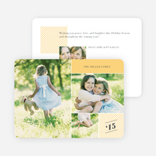 Photo Collage Holiday Cards - Yellow