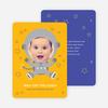 Astronaut Photo Birthday Invitations - Yellow