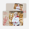 Berry Greetings Holiday Photo Cards - Almond