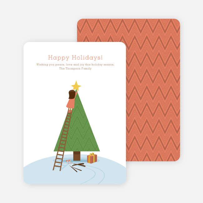 Christmas Tree Christmas Card: The Question - Lime