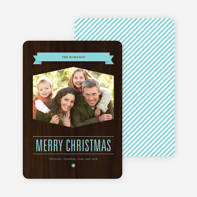 Classic Banner Holiday Photo Cards - Arctic Blue