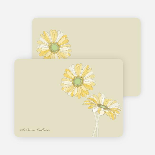 Elegant Flowers Personal Stationery - Rich Soil