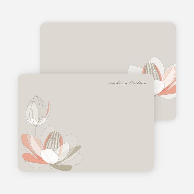 Elegant Flowers Personal Stationery - Dark Clay