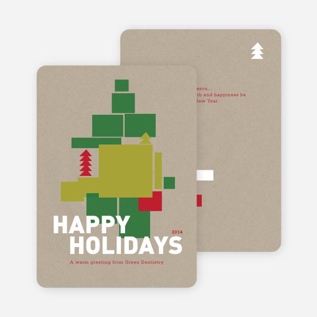 Gift Box Holiday Cards - Cornflower Blue