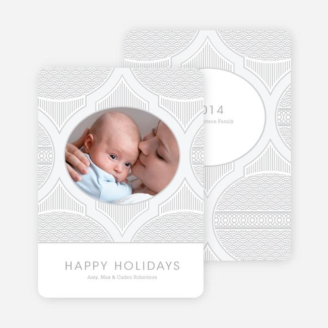 Happy Holidays Star Pattern - Silver
