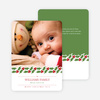 Holly Banner Holiday Photo Cards - White