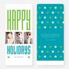 Hollywood Happy Holidays Triple Cards - Blue