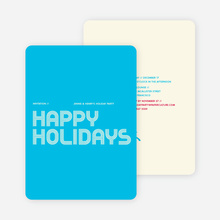 Modern and Retro Happy Holidays Splash Cards - Cornflower Blue