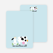 Moo-chas Grass-cias Cow Stationery - Glacier