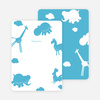 Note Cards: 'Animal Downpour' cards. - Cornflower Blue