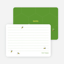 Note Cards: 'Buzzing Bees' cards. - Rich Green