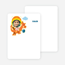 Note Cards: 'Dragon Rider' cards. - Baby Blue
