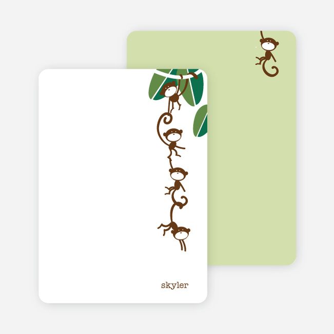 Note Cards: 'Monkeying Around' cards. - Simple Green