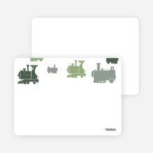 Note Cards: 'Thomas Loves the Train' cards. - Green
