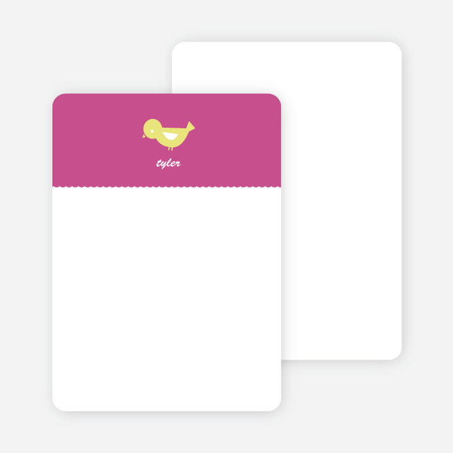 Notecards for the 'Birdie Announcement' cards. - Deep Pink