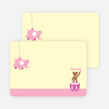 Notecards for the 'Nursery Animals Gone Wild' cards. - Carnation