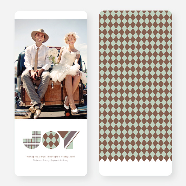 Patterns of Joy Large Holiday Cards - Brown