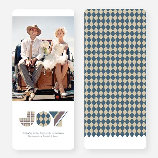 Patterns of Joy Large Holiday Cards - Blue