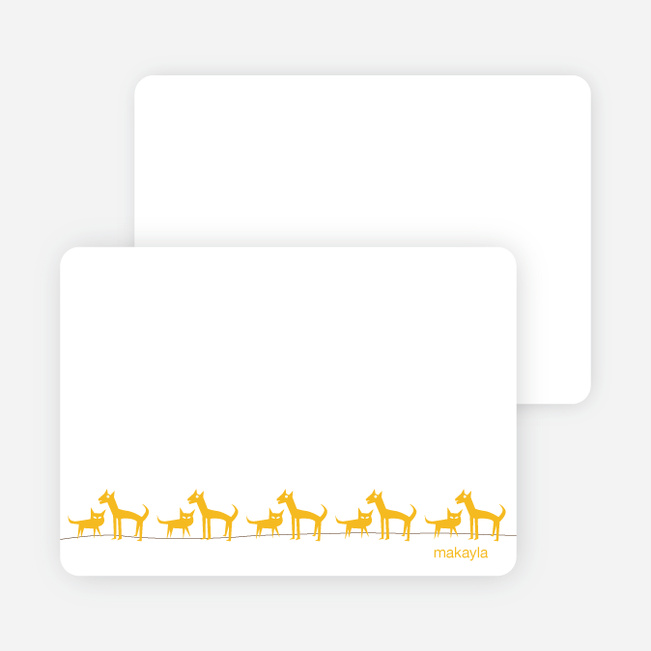 Personal Stationery for Cats and Dogs Photo Baby Announcement - Sunflower