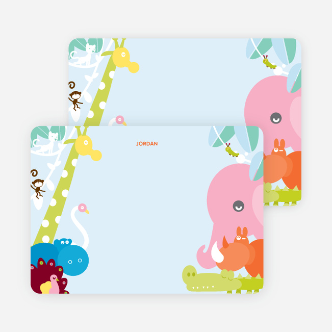 Personal Stationery for Where the Wild Things Live Birthday Invitation - Cotton Candy