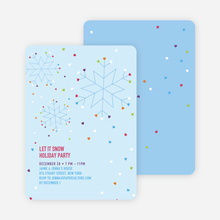 Snow Love Holiday Party Invitations - Glacier