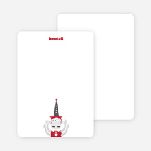 Stationery: 'Abracadabra!' cards. - Light Brick