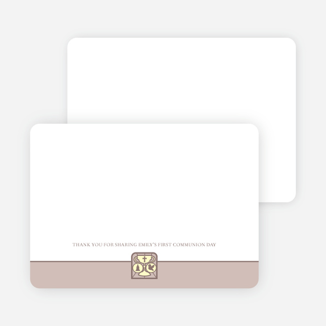 Stationery: 'Chalice and Child' cards. - Light Eggplant