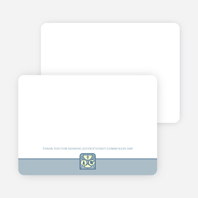 Stationery: 'Chalice and Child' cards. - Powder Blue