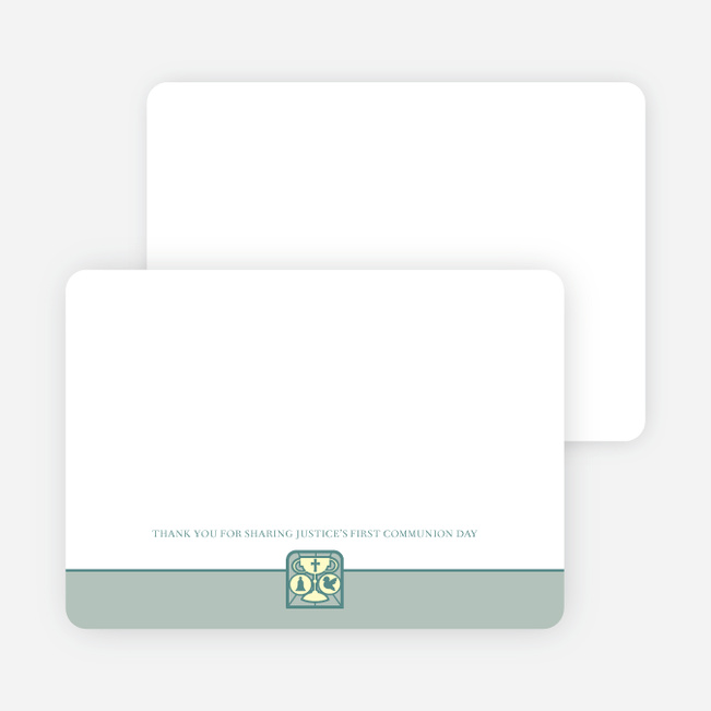 Stationery: 'Chalice and Child' cards. - Sage Green