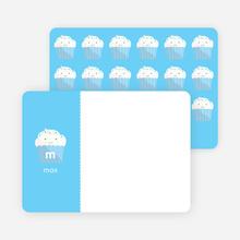 Stationery: 'Cupcake Birthday Invitation' cards. - Sky Blue