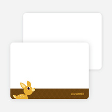 Stationery: 'Deer Me Baby Announcement' cards. - Coffee