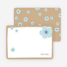 Stationery: 'Flowers' cards. - Almond Beige