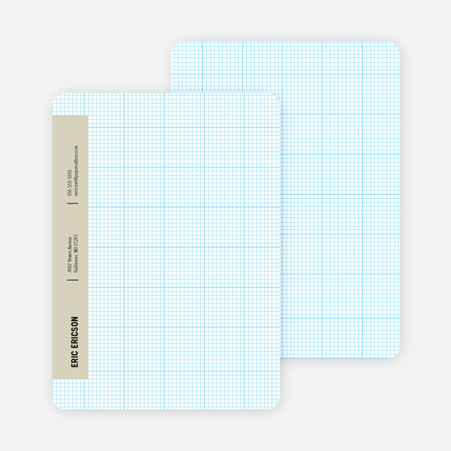 Stationery Grid Modern Note Cards - Boss Beige