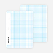 Stationery Grid Modern Note Cards - White